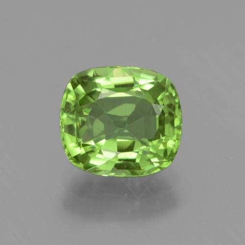 2ct Cushion-Cut Lively Green Peridot Gem (ID: 437796)