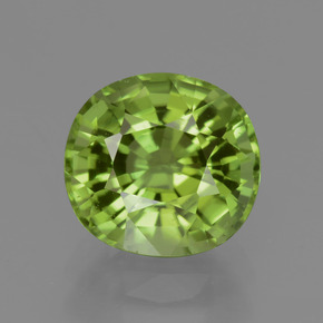 2.55 ct Oval Facet Lively Green Peridot Gemstone 8.41 mm x 7.9 mm (Product ID: 437845)