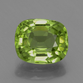 Yellowish Green Peridot Gem - 2.6ct Cushion-Cut (ID: 437864)