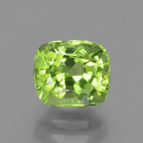 2.2ct Cushion-Cut Lively Green Peridot Gem (ID: 437908)