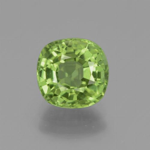 Lively Green Peridot Gem - 2.1ct Cushion-Cut (ID: 437968)