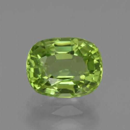 Lively Green Peridot Gem - 2.1ct Cushion-Cut (ID: 438011)