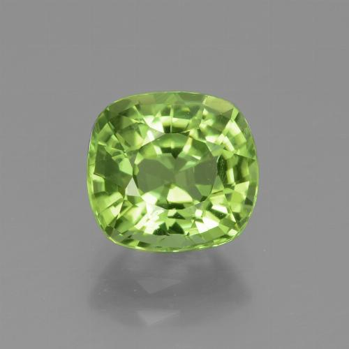 Lively Green Peridot Gem - 2.1ct Cushion-Cut (ID: 438057)