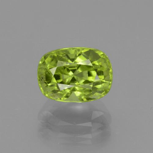Medium Green Peridot Gem - 2.5ct Cushion-Cut (ID: 438086)