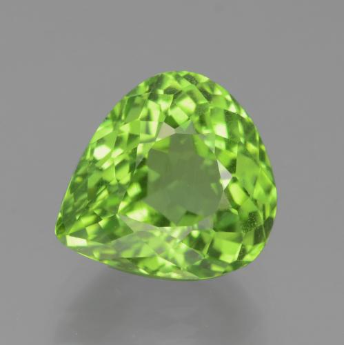 Medium Green Péridot gemme - 4.7ct Poire facette (ID: 442826)
