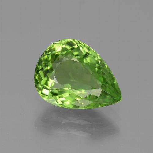 3.6ct Pear Facet Forest Green Peridot Gem (ID: 443108)