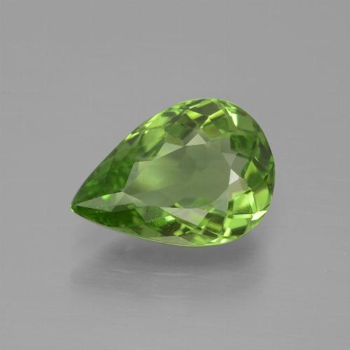 3.2ct Pear Facet Lively Green Peridot Gem (ID: 443111)