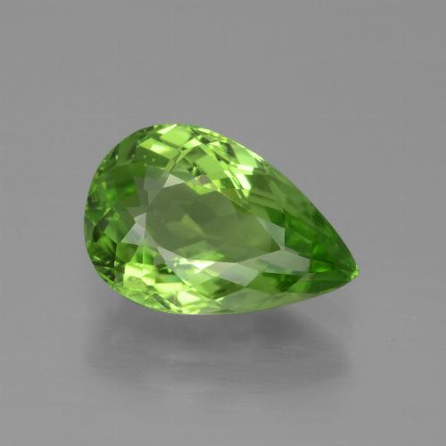 3.6ct Pear Facet Lively Green Peridot Gem (ID: 443112)