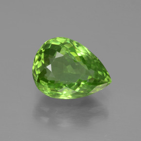 thumb image of 3.8ct Pear Facet Lively Green Peridot (ID: 443115)