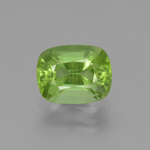 Medium Green Peridot Gem - 2.3ct Cushion-Cut (ID: 445824)