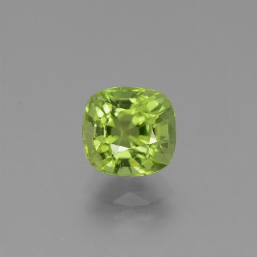 Medium Green Peridot Gem - 2.5ct Cushion-Cut (ID: 445831)