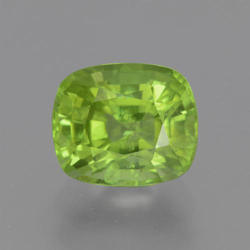 Lively Green Peridot Gem - 2.6ct Cushion-Cut (ID: 446162)