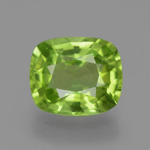 Lively Green Peridot Gem - 2.5ct Cushion-Cut (ID: 446163)