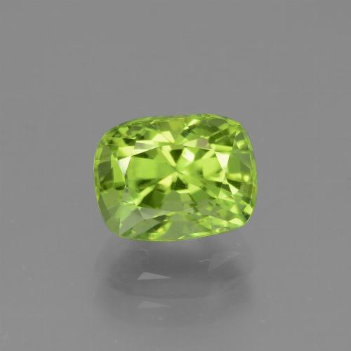 Lively Green Peridot Gem - 2.1ct Cushion-Cut (ID: 446947)