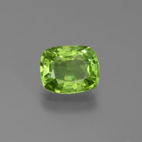 1.9ct Cushion-Cut Lively Green Peridot Gem (ID: 446983)