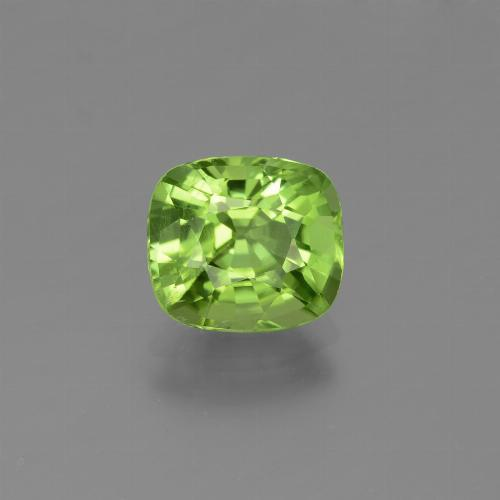 Lively Green Peridot Gem - 1.9ct Cushion-Cut (ID: 446985)