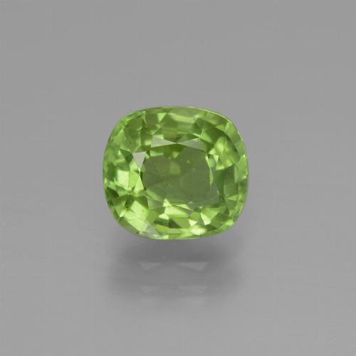 Lively Green Peridot Gem - 2.3ct Cushion-Cut (ID: 447053)