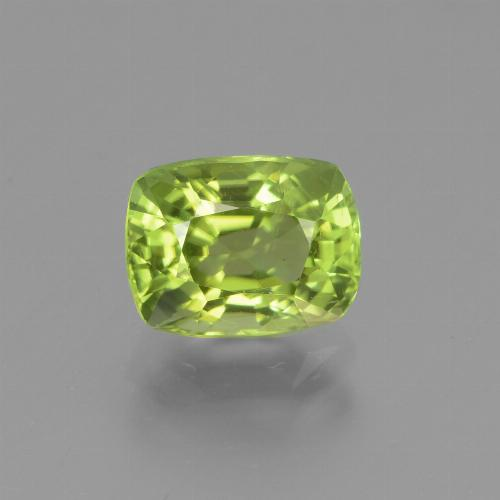 Lively Green Peridot Gem - 2ct Cushion-Cut (ID: 447139)