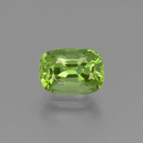 Medium Green Peridot Gem - 2.2ct Cushion-Cut (ID: 447170)