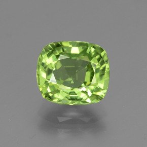 Medium Green Peridoto Gem - 2.4ct Taglio a cuscino (ID: 447199)