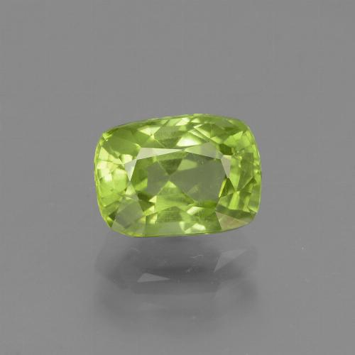 Light Lively Green Peridot Gem - 2ct Cushion-Cut (ID: 447200)