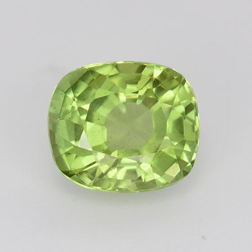 Light Lively Green Peridot Gem - 2.2ct Cushion-Cut (ID: 447536)