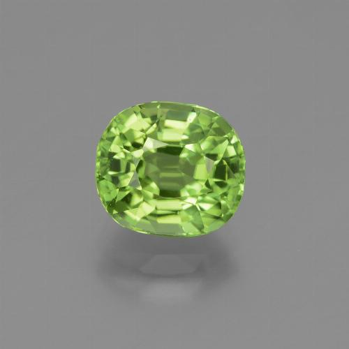 Lively Green Peridot Gem - 2.5ct Oval Facet (ID: 447540)
