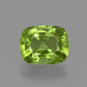 2.3ct Cushion-Cut Lively Green Peridot Gem (ID: 447561)