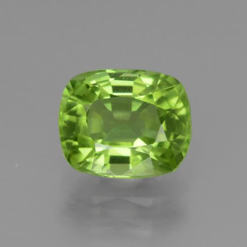 Medium Green Peridot Gem - 2.4ct Cushion-Cut (ID: 447583)