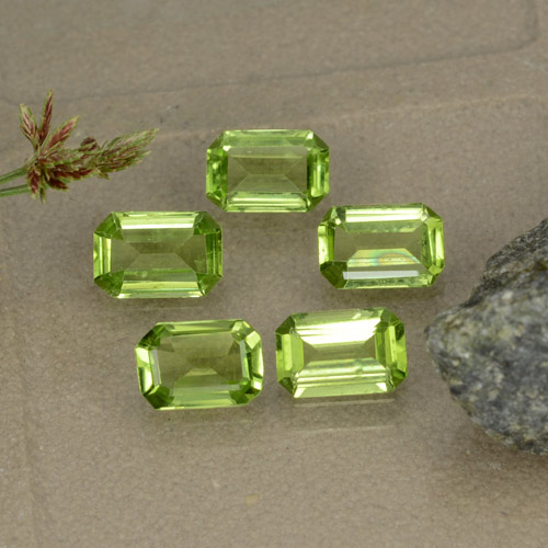 Medium Green Peridoto Gem - 0.5ct Taglio ottagonale (ID: 474531)