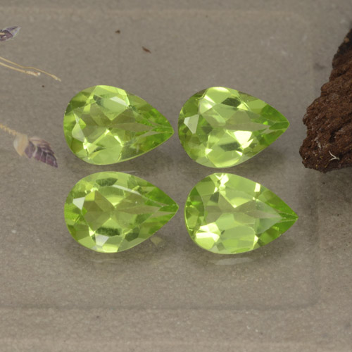 0.7ct Pear Facet Lively Green Peridot Gem (ID: 477221)