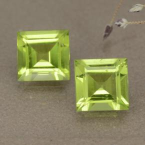 Medium Green Peridoto Gema - 0.9ct Corte cuadrado step (ID: 477611)