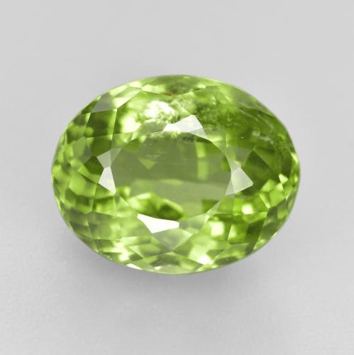 Lively Green Peridot Gem - 6ct Oval Portuguese-Cut (ID: 479804)