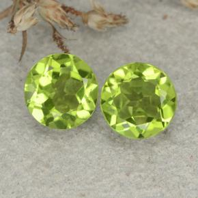 Lively Green Peridot Gem - 1.1ct Round Facet (ID: 480459)