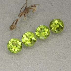 Lively Green Peridot Gem - 1.3ct Round Facet (ID: 480499)