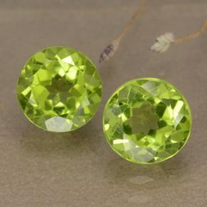 thumb image of 1.4ct Round Facet Lively Green Peridot (ID: 481079)