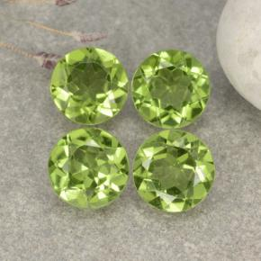 Light Lively Green Peridoto Gema - 1.1ct Faceta Redonda (ID: 481092)