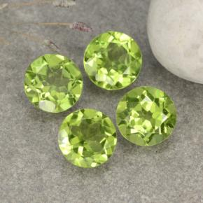 Lively Green Peridot Gem - 1.2ct Round Facet (ID: 481094)