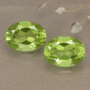 Lively Green Peridot Gem - 1.5ct Oval Facet (ID: 481142)