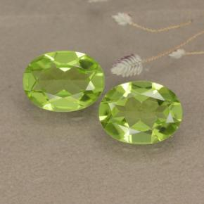 1.3ct Oval Facet Lively Green Peridot Gem (ID: 481145)