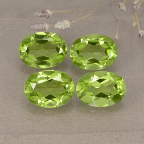 Lively Green Peridot Gem - 1.3ct Oval Facet (ID: 481254)