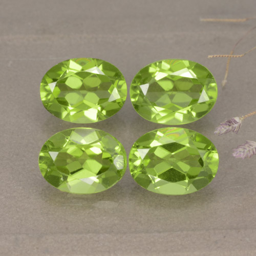 Lively Green Peridot Gem - 1.5ct Oval Facet (ID: 481255)