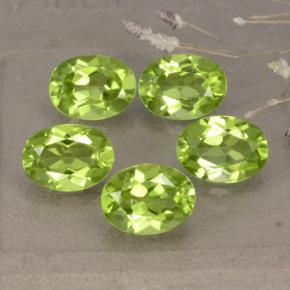 Lively Green Peridot Gem - 1.4ct Oval Facet (ID: 481257)