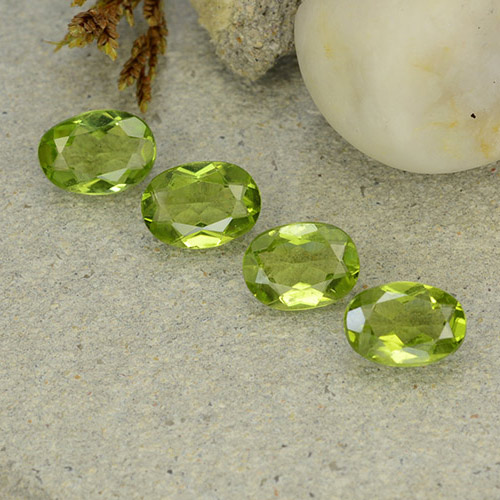Lively Green Peridot Gem - 1.1ct Oval Facet (ID: 484261)