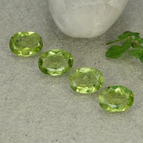 Lively Green Peridot Gem - 1.1ct Oval Facet (ID: 484335)