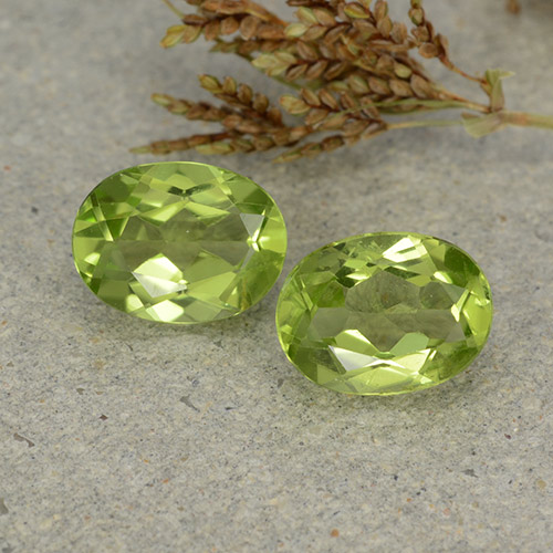 Light Lively Green Peridot Gem - 1.4ct Oval Facet (ID: 484406)