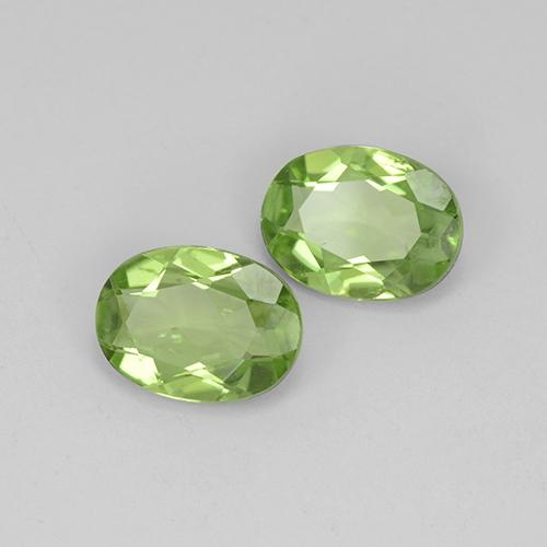 Lively Green Peridot Gem - 1.1ct Oval Facet (ID: 484411)
