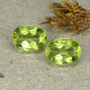 Lively Green Peridot Gem - 1.3ct Oval Facet (ID: 484414)