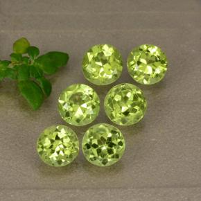 Lively Yellowish Green Peridot Gem - 0.6ct Round Facet (ID: 489357)