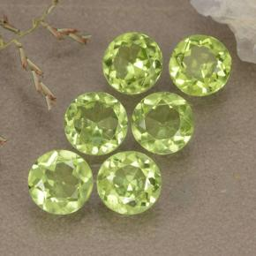 Lively Green Peridot Gem - 0.5ct Round Facet (ID: 489418)